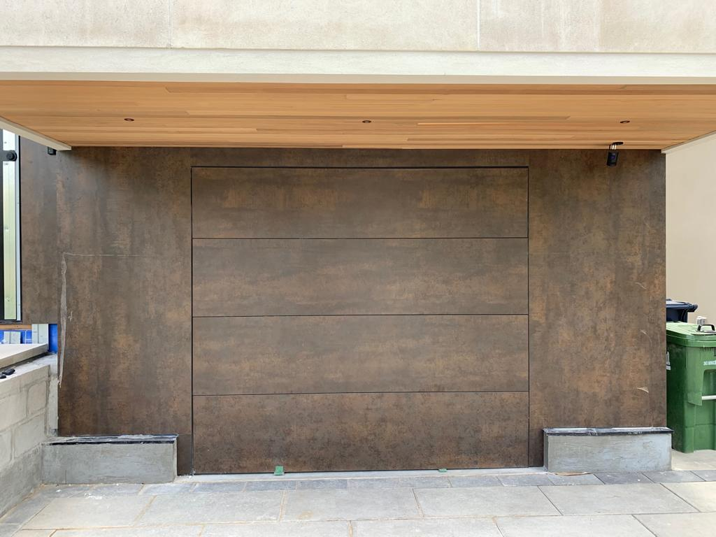 Flush Mount Garage Door Solid Wood