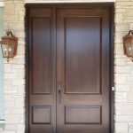 Solid Flush Mount Garage Door Solid Wood