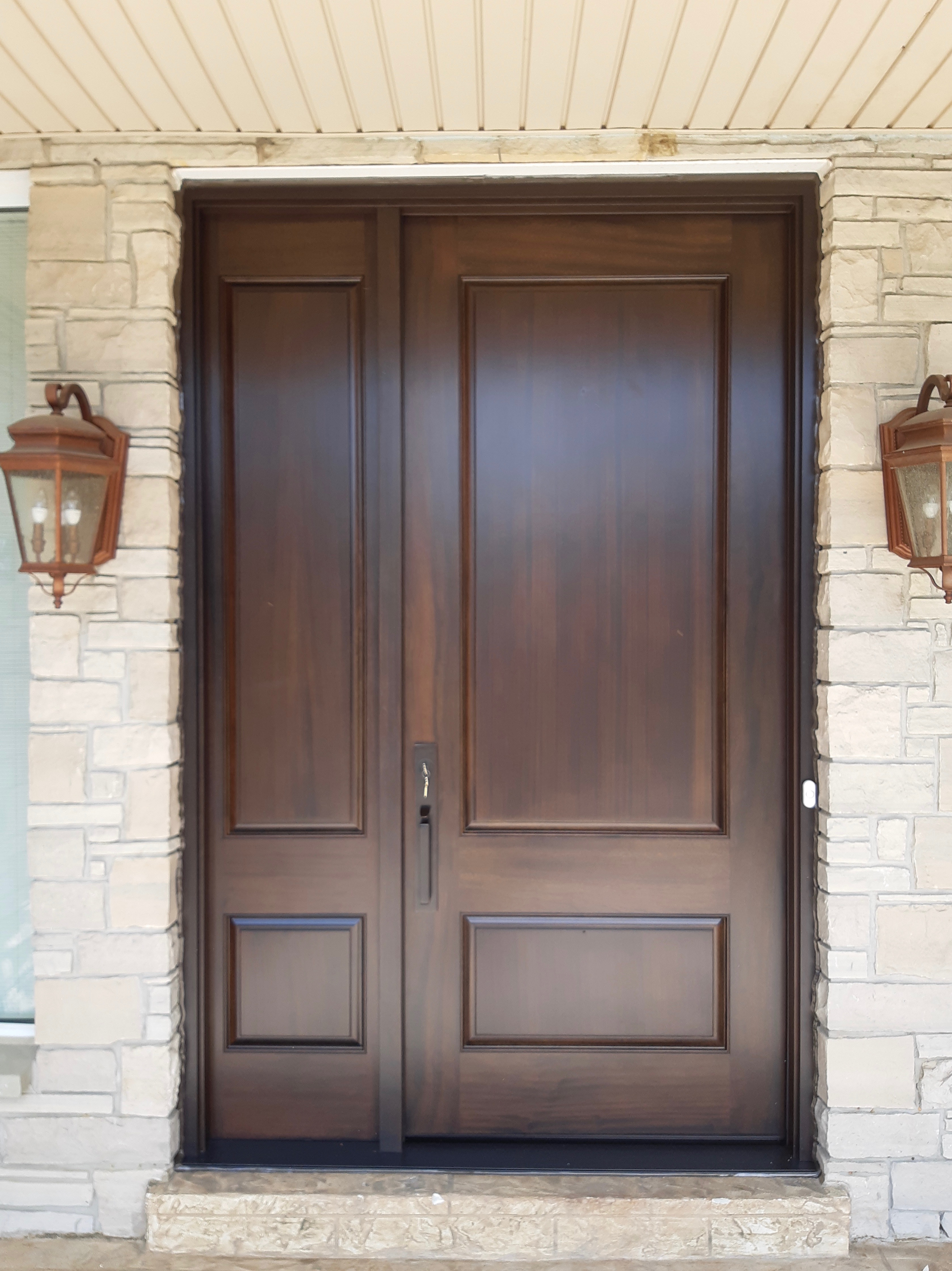 Solid Flush Mount Garage Door Solid Wood