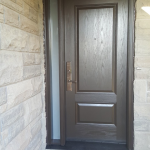 Traditional Fiberglass Door With Side Light