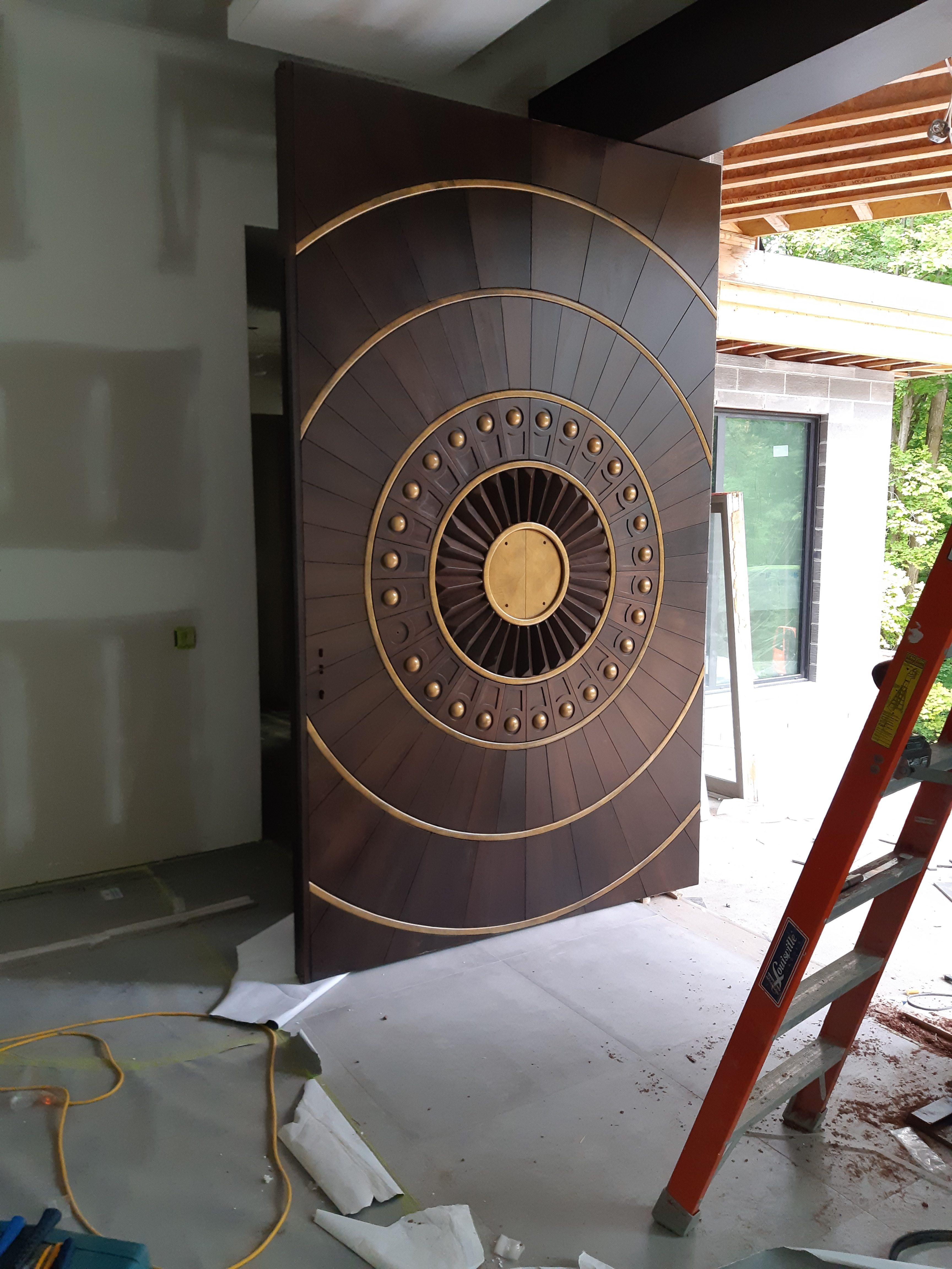 Custom Oversized Pivot Door Multi Point Lock System