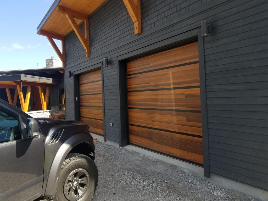Wood Panel Oversized Garage Doors 2