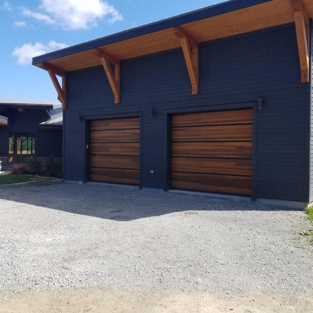 Wood Panel Oversized Garage Doors