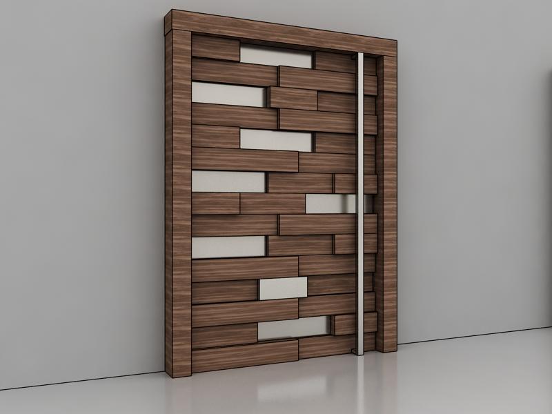 Art Boulle Door Design Raised Panels Stainless Steele Solid Wood