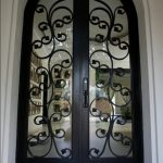 Double Arched Entrance Door Wrought Iron Design