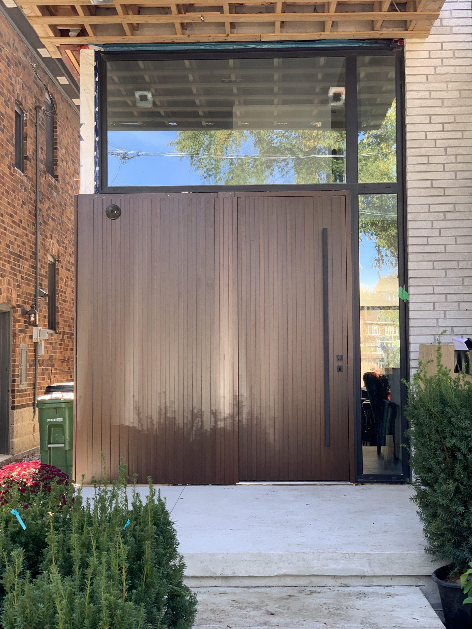 Modern Solid Pivot Door Full Panel Multi Point