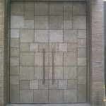 Large Double Door Steel Square Panels Multi Point