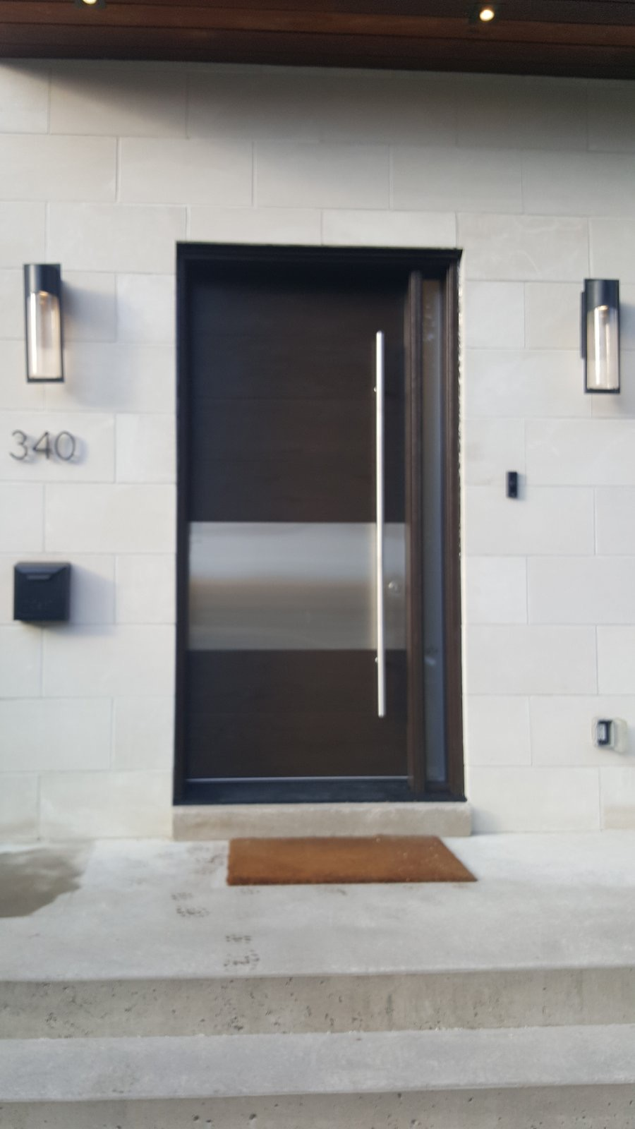 Modern Single Front Entry Door Stainless Steel Panel