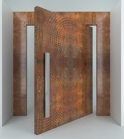 Oversized Pivot Single Entrance Door Steel Design Multi Point