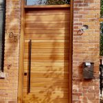 Single Solid Wood Door Horizontal Lines Multi Point Lock