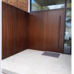 Solid Wood Front Entry Door Matching Side Wall