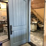 Traditional Two Panel Fibreglass Door Vertical Lines Multi Point Lock