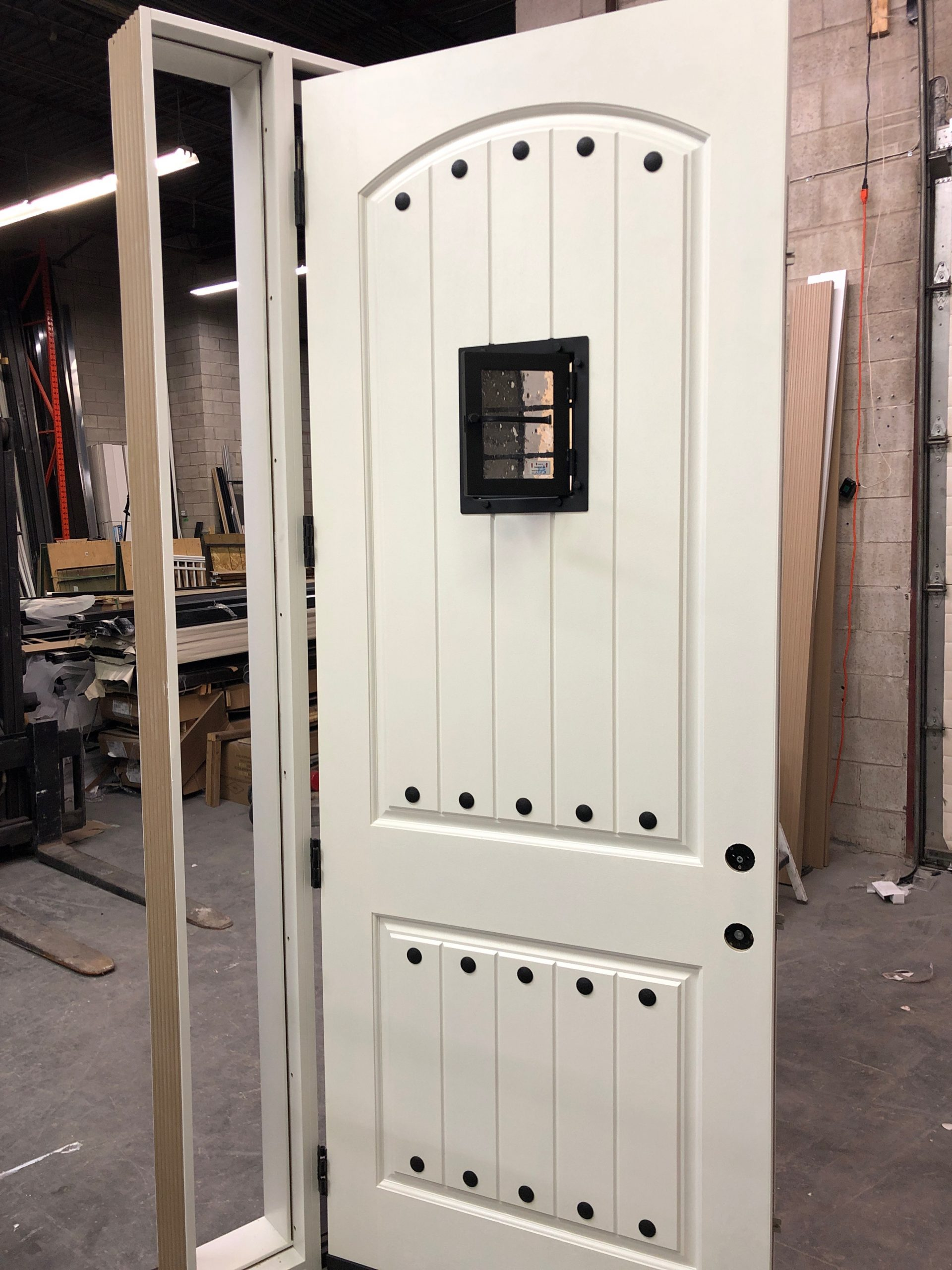 Mid Era Wood Style Door With Look Out View