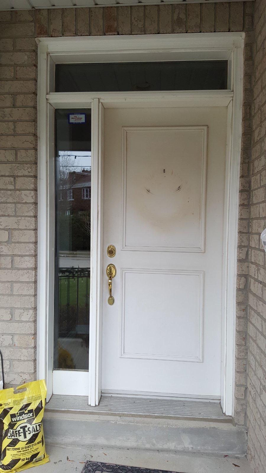Modern Style Fiberglass Single Front Entry Door 4 Panel
