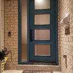 Modern Style Fiberglass Single Front Entry Door 4 Panel