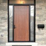 Ultra Modern Single Front Entry Door Fiberglass 2 Side Lights