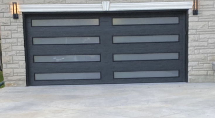 Modern 8 Panel Garage Door Fiberglass Wood Grain