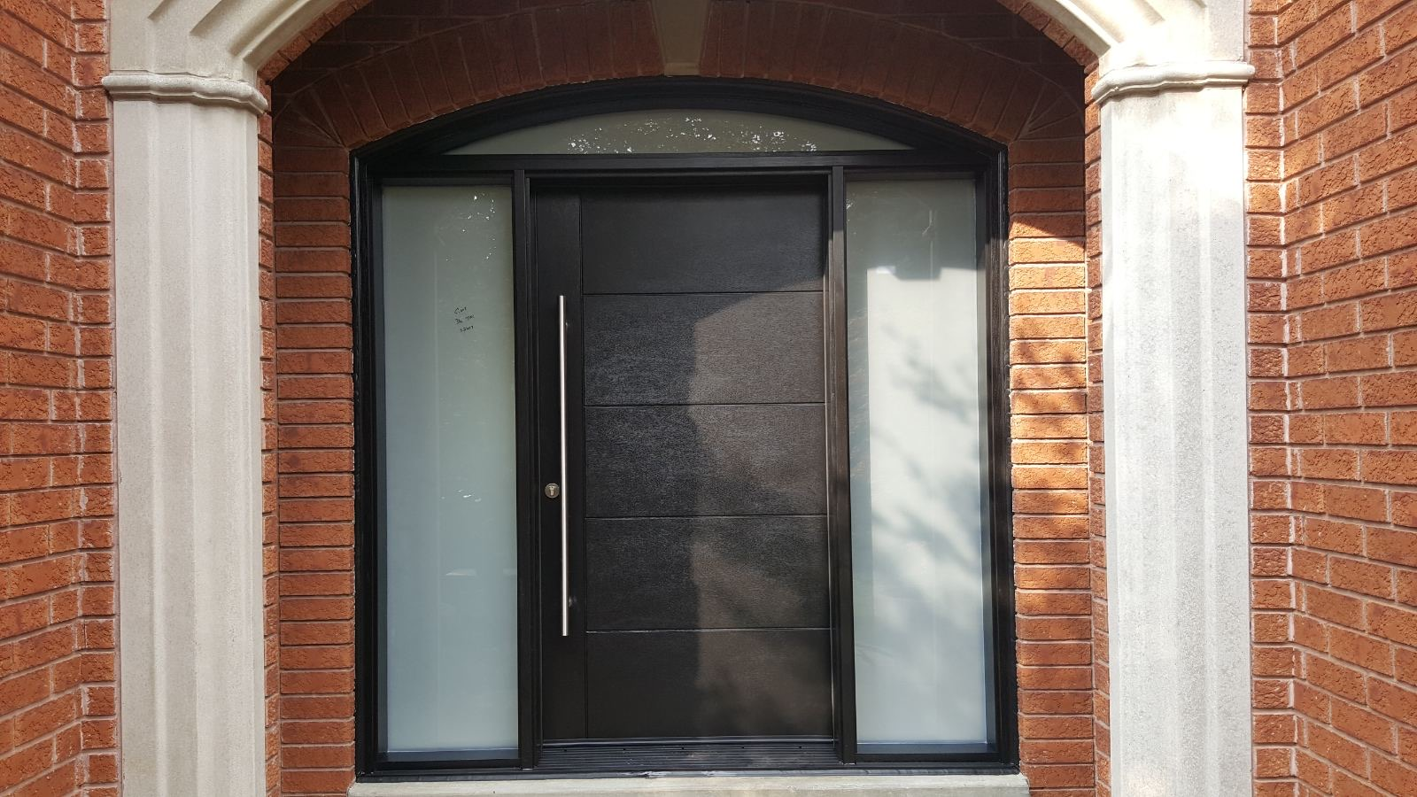 Modern Fiberglass Single Front Entry Door