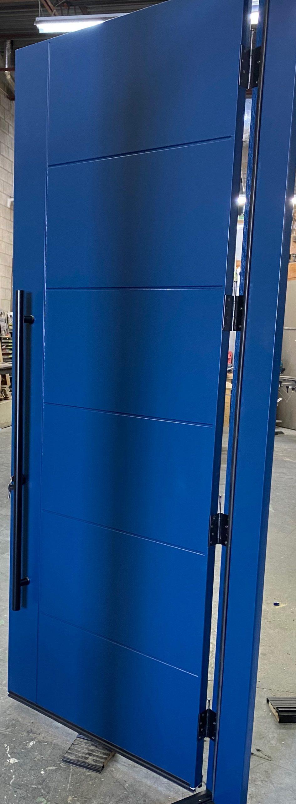 Modern Single Door Multi Point Lock Blue
