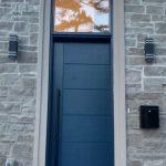 Modern Fiberglass Multipoint Front Door Oversized Transom