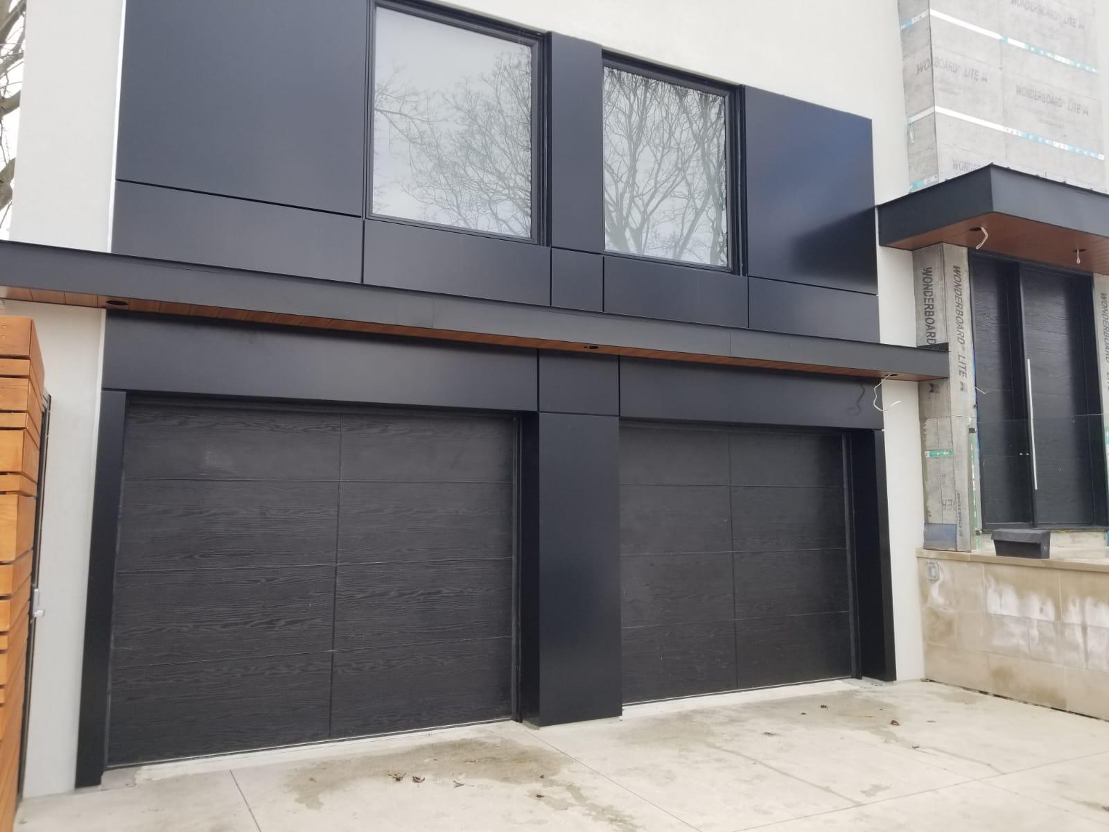 Modern Fiberglass Double Door Dark Brown
