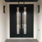 Modern Contemporary Double Doors With Glass Inserts