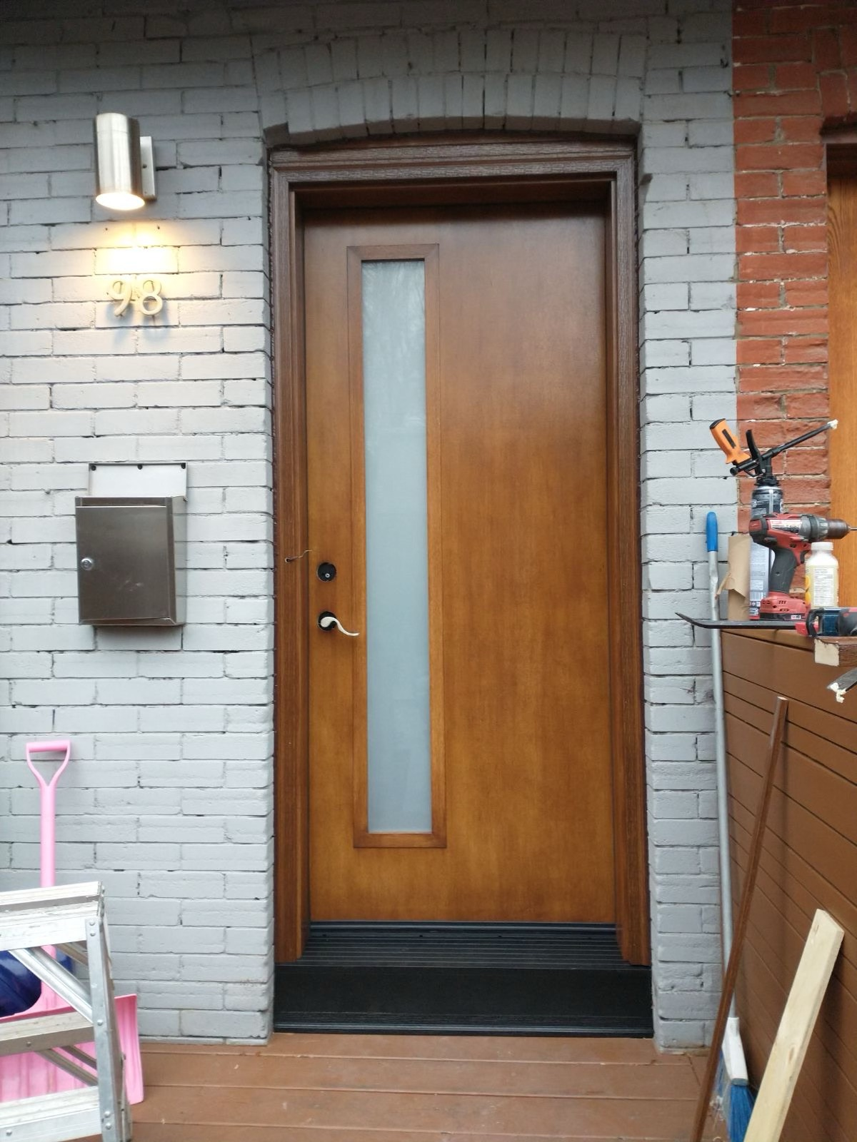 Smooth Finish Single Entry Door With Traditional Hardware