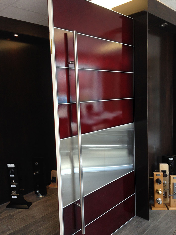48 inches Aluminum Laser Cut Front Door-Custom Oversized 48 by 8 foot Aluminum Laser Cut Powder Coated With Custom Color made by modern-doors