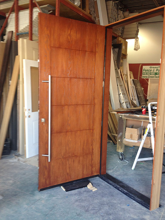 Cedar Modern Fiberglass Woodgrain Door-Fiberglass Woodgrain Modern Door Manufactured by Modern Doors