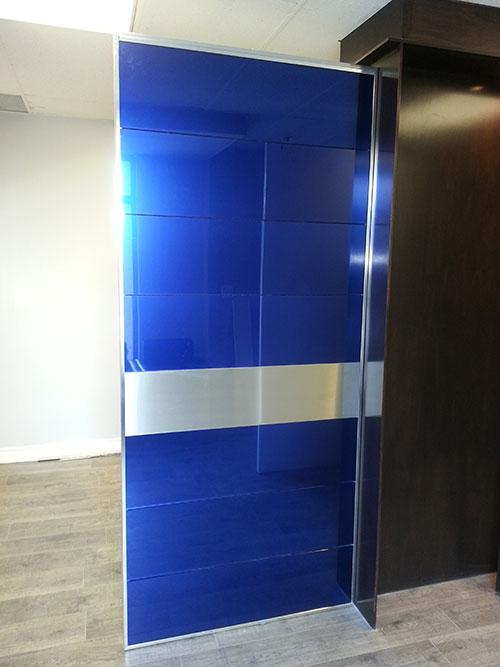 Custom Glass Design Fiberglass Doors made by modern-doors.ca