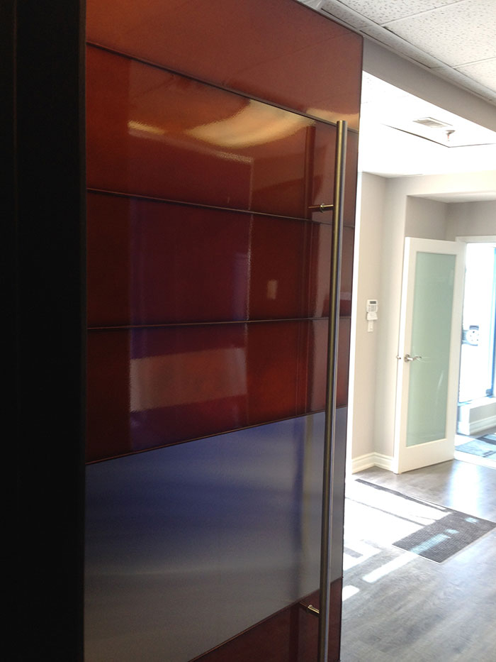 Custom Oversized 48 by 8 foot Aluminum Laser Cut Powder Coated With Custom Color made by modern-doors.ca