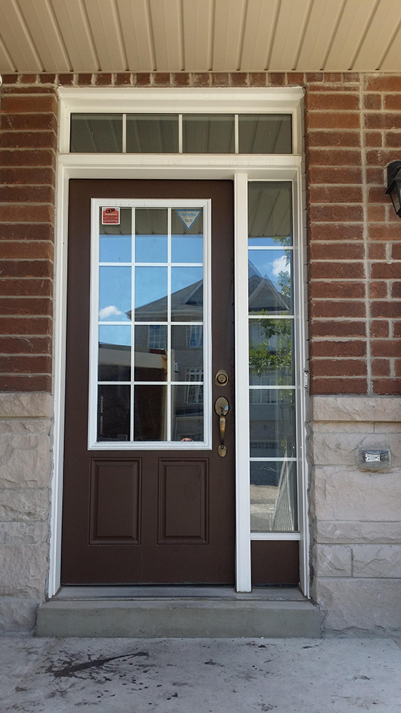 Door before installation