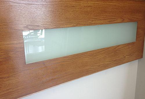 Fiberglass Rustic Flush Glazed Garage Doors