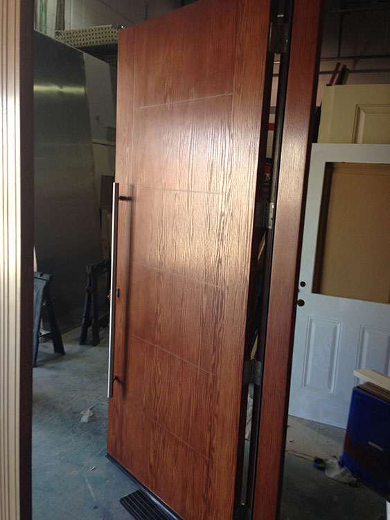Fiberglass Woodgrain Cedar Modern Door Manufactured by Modern Doors