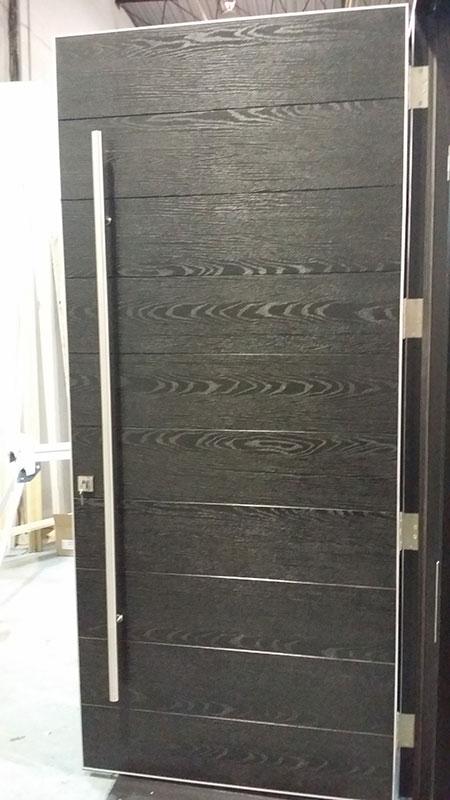 Front Entry Exterior Door- Modern Front Entry Fiberglass Doors during Manufactring by modern-doors.ca
