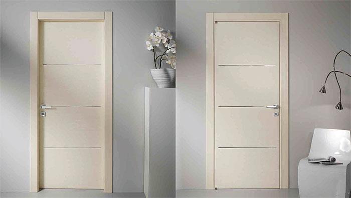 MODERN DOORS TORONTO-MODERN HINGED DOOR, PUSH SIDE INSTALED IN RICHMOND HILL BY MODERN-DOORS.CA