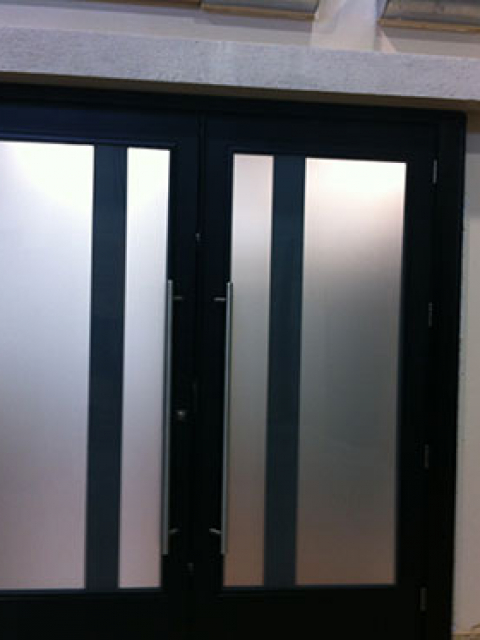 Modern Contemporary Entry Front Doors with Frosted Glass by modern-doors.ca in Richmond Hill, Ontario-Picture#MED107