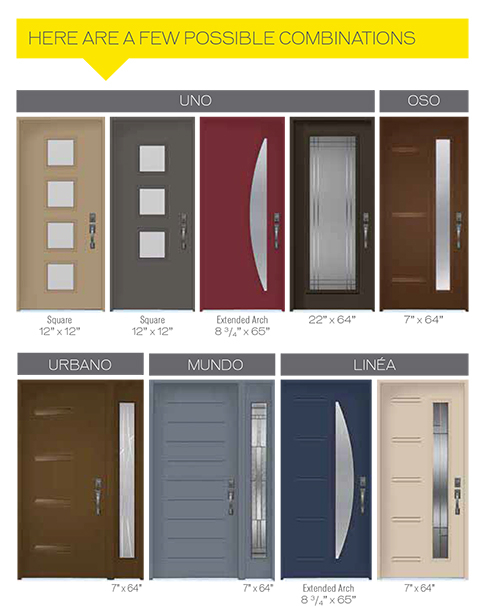Modern Contemporary Front Entry Door- Different Type of Design Collections installed by Modern-door.ca in Downsview, Ontario-Picture#DC308