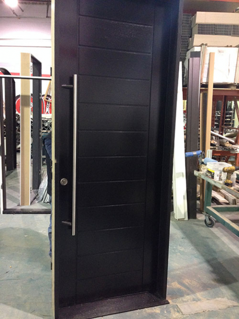 Modern Contemporary Front Entry Door, Solid Modern Door During Manufacturing by modern-doors.ca-Picture#MED123