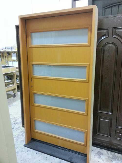 Modern Contemporary Front Exterior Door-Custom 42 inch Fiberglass-Modern Single-Front Door installation by modern-doors.ca-Picture#MED143