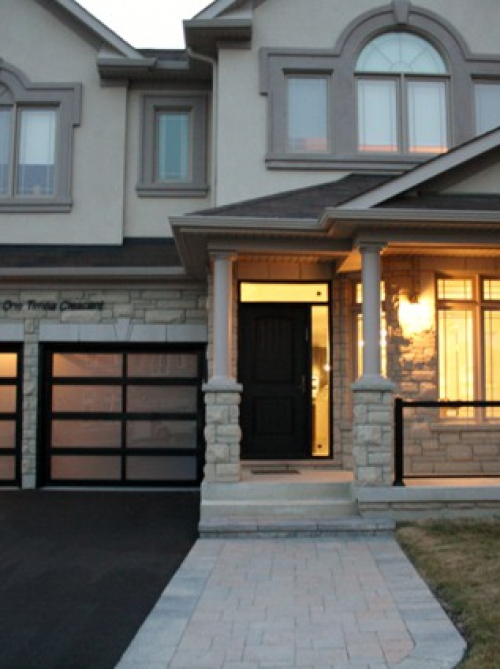 Modern Contemporary Garage Doors- Aluminum and Glass Modern Garage Doors, Frosted Glass Windows- Modern Garage Doors In Woodbridge, by modern-doors.ca Ontario-Picture#634