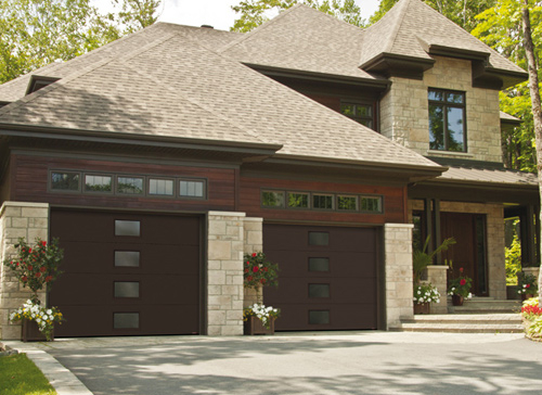 Modern Contemporary Garage Doors-Central Harmony Window layout Modern Garage Doors in Woodbridge, Ontario-Picture#607