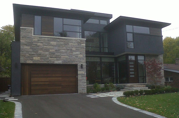 Modern Contemporary Garage Doors- Fiberglass Modern Garage Doors - In Maple, Ontario-by modern-doors.ca-Picture#635