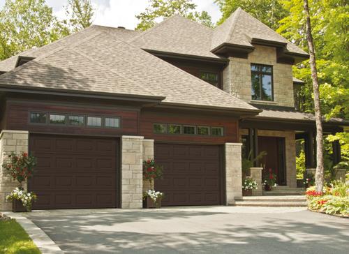 Modern Contemporary  Garage Doors-Moka Brown Color Modern Garage Doors in Woodbridge, Ontario by www.modern-doors.ca-Picture#614