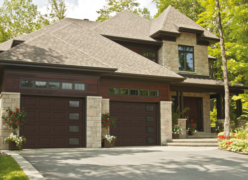Modern Contemporary Garage Doors-Right-side Harmony Window Layout Garage Doors in Woodbridge, Ontario by www.modern-doors.ca-Picture#618