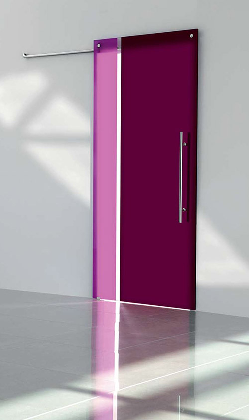Modern Contemporary Interior Colored Sliding Doors in Richmond Hill, Ontario by modern-doors.ca
