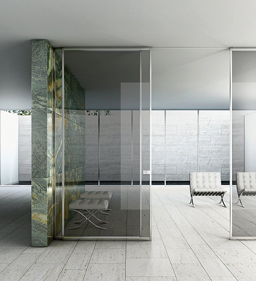 Modern Contemporary Interior Sliding Doors- Top Hang Clear Modern Interior Sliding Doors in King, Ontario by modern-doors.ca-Picture#1209