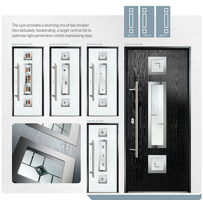 Modern Exterior Door, Fiiberglass Modern Doors with Multi Point Locks installed in Oshawa