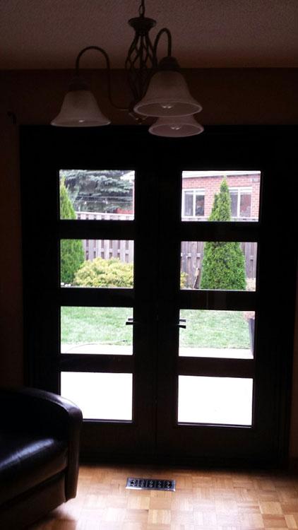 Modern FIberglass Lase cut Wrought Iron Design Doors manufactured by Modern Doors-Inside View