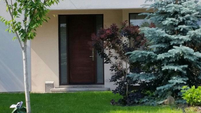 Modern Fiberglass Door installed in Etobicoke